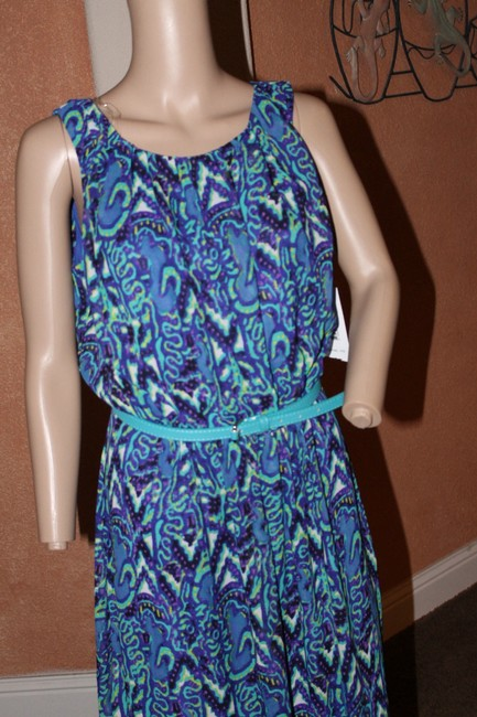 blue multi Maxi Dress by Signature by Robbie Bee