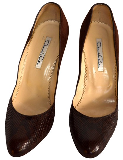 Oscar de la Renta Brown Pumps