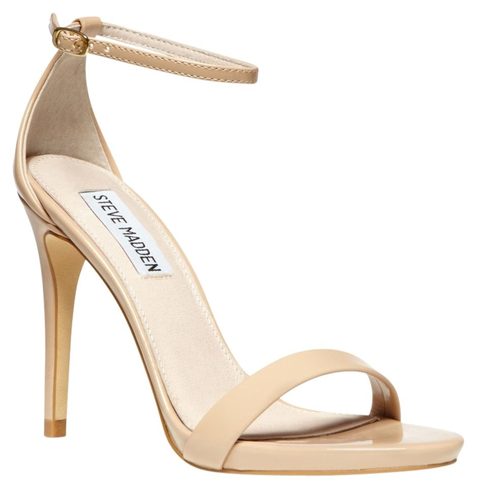 3876b6edafb Steve Madden Stecy Stacy Sexy Patent Leather Heel Heels Size 7 Nude Sandals  Image 0 ...