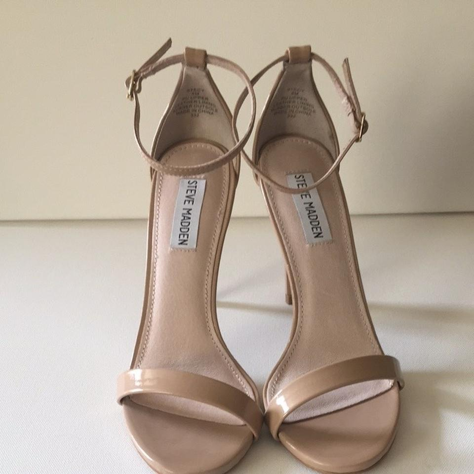 78844f30c4f Steve Madden Nude Stecy Stacy Sexy In Patent Leather Sandals Size US 7  Regular (M