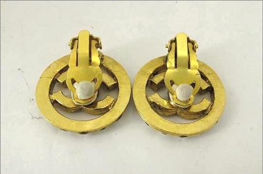 Chanel Chanel CC Gold Crystal Clip On Earrings CCAV397