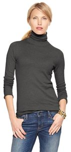 Gap Turtleneck Silk Charcoal Sweater