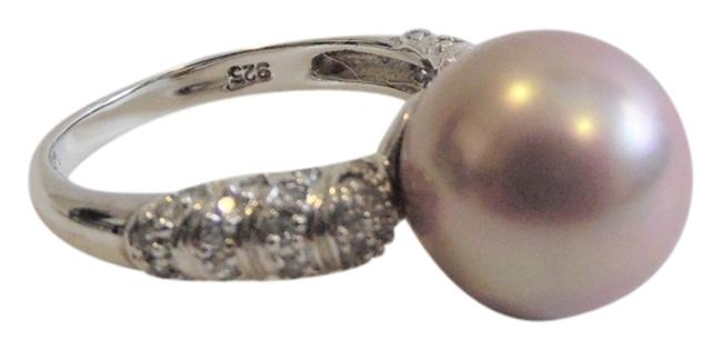 Item - .925 Sterling Silver Faux Mauve South Sea Pearl Size 7 Ring