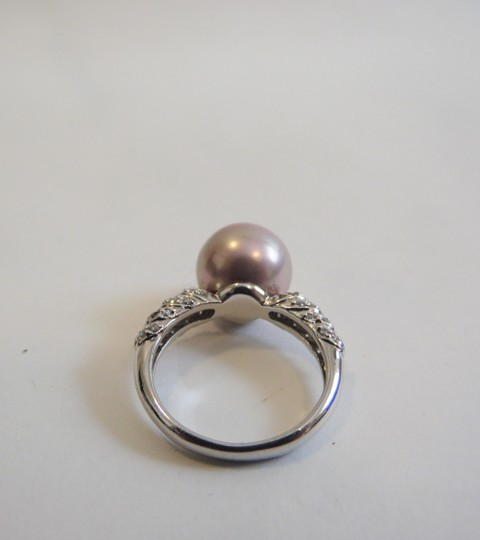 Pearlfection Pearlfection .925 Faux Mauve South Sea Pearl Ring Size 7
