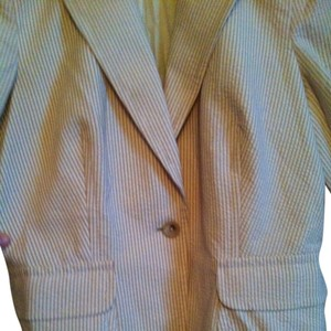 Banana Republic Golden Tan Seersucker Blazer