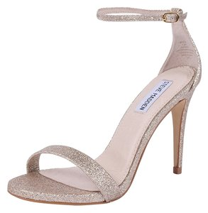 Steve Madden Stecy Stacy Sexy Gold Glitter Sandals