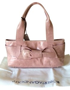 Roberta Leather Leather Large Large Leather Italian Leather Purse Purse Satchel in Pink
