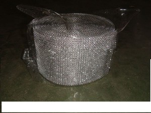 3 Silver Diamond Mesh Wrap Roll 24 Row Rhinestone Crystal Ribbon