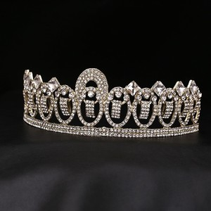 Oval Austrian Crystal 18kt-plated Tiara