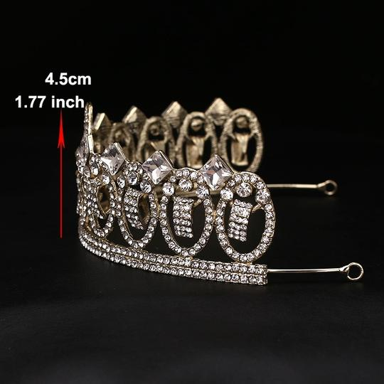 White Gold Oval Austrian Crystal 18kt-plated Tiara