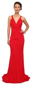 Badgley Mischka Gown Crossover Strap Style Eg 1263 Eg1263 Size 8 Dress