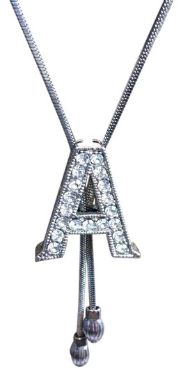 Preload https://item4.tradesy.com/images/sterling-silver-and-rhinestones-initial-a-lariet-11-necklace-5294218-0-3.jpg?width=440&height=440