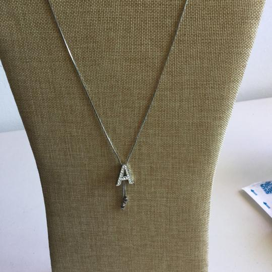 Other Sterling Silver & Rhinestone *Initial-A* Lariet 11