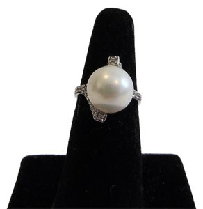 Pearlfection Pearlfection .925 Faux White South Sea Pearl Ring Size 7