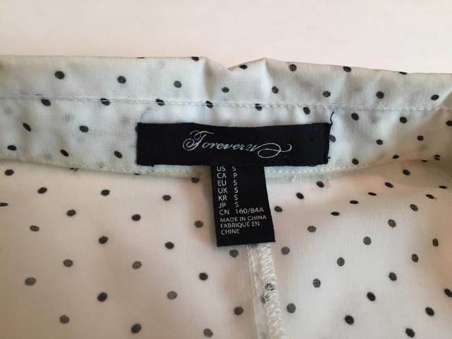 Forever 21 Top White with black polka dots