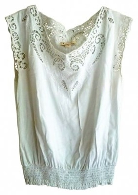 Preload https://item1.tradesy.com/images/forever-21-white-lace-detail-blouse-size-8-m-5295-0-0.jpg?width=400&height=650