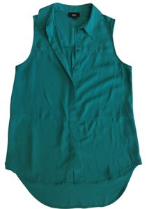 Mossimo Supply Co. Sleeveless Button Down Classic Top Teal/Green