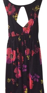 Roxy short dress Black/multicolored floral on Tradesy