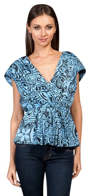 Tracy Reese Pai Paisley Top Chambray