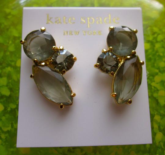 Kate Spade NEW!!! Tags Kate Spade New York Cluster Smoke Crystal Earrings NWT