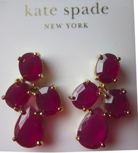 Kate Spade NEW TAGS! Kate Spade Purple Gem Drop Dangle Chandelier earrings DUST BAG!