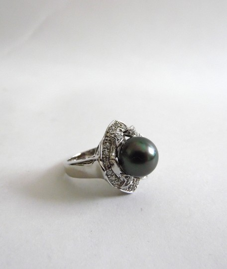 Pearlfection Pearlfection .925 Black Faux South Sea Pearl Ring Size 8
