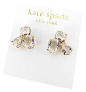 Kate Spade Kate Spade New York Clear 14K Gold Fill Cluster Stud Earrings NEW