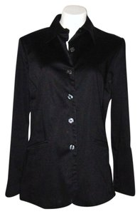 Merona Cotton Dress Blazer Black Jacket