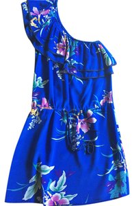 Yumi Kim One Shoulder Floral Silk Dress
