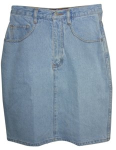 Jordache 5 Pocket Belt Loops Skirt BLUE DENIM