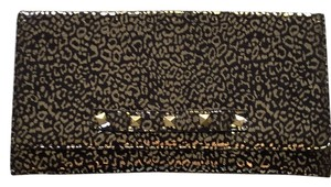 Betsey Johnson Black Gold Clutch