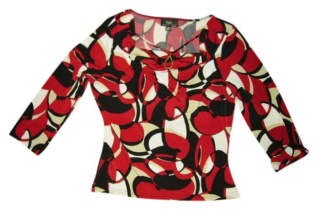 Item - Black/Red/Tan/Off-white New with Tags Tunic Size 12 (L)