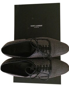 Saint Laurent Studded Oxfords Blake Black Flats