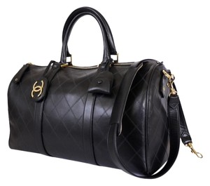 Chanel Lambskin Black Travel Bag