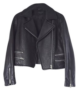 Rag & Bone Black with silver zips Leather Jacket