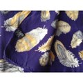 Italian silk Vintage scarf navy blue with yellow Image 2