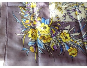 Hand made silk scarf Silk hand made lavendar scarf