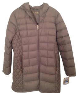 Michael Kors Packable Quilted Puffer Brown Jacket