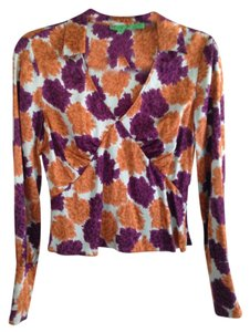 Tibi Silk Dryclean Only Fall Top Multicolor
