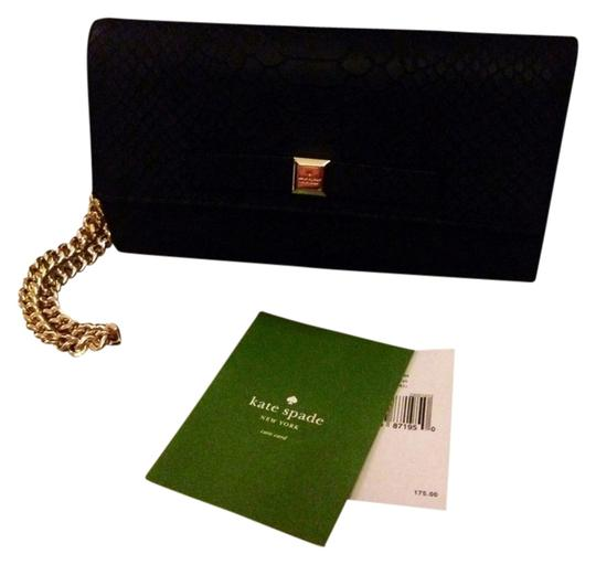 Preload https://item1.tradesy.com/images/kate-spade-milou-black-gold-leather-clutch-5298310-0-1.jpg?width=440&height=440
