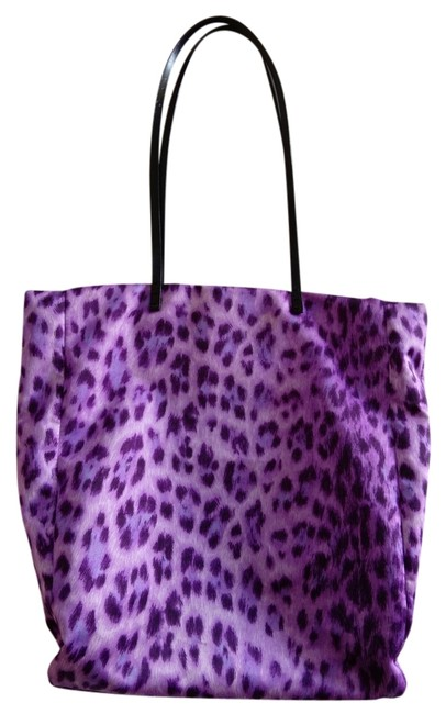 Item - Reserved For Cherie :-) Purple Leopard Polyester Tote