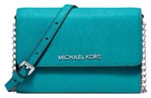 Michael Kors Jet Set Blue Aqua Cross Body Bag