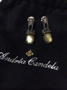 Andréa Candela Andrea Candela Ibiza Earrings 0.06cts Diamonds 925 18k YG Msrp $540