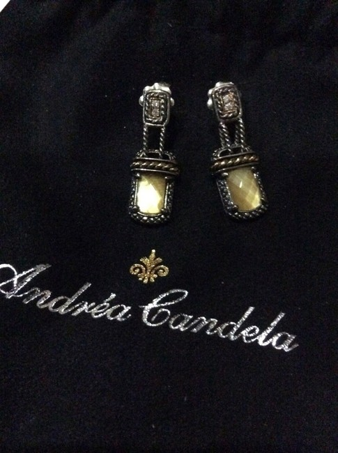 Item - Yellow Ibiza 0.06cts Diamonds 925 18k Yg Msrp Earrings
