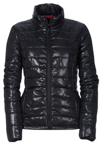 Aeropostale Shiny Lightweight Packable Black Jacket