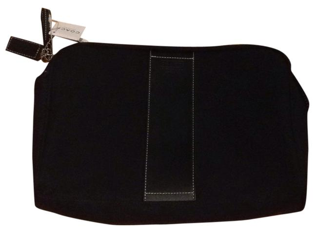 Item - Black with White Stitching Beauty Case 3h00023480 Large Cosmetic Bag