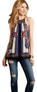 Anthropologie Nala Embroidered Top