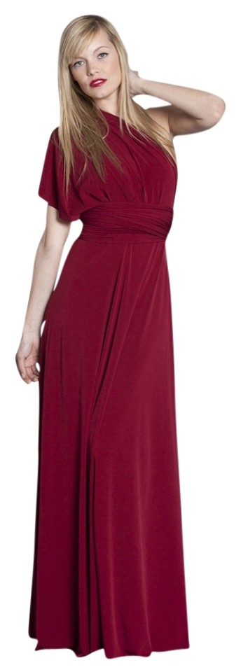 Von Vonni Deep Red Evening Gown Long Formal Dress Size OS (one size ...