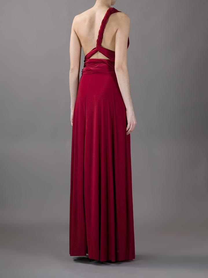 Von Vonni Deep Red Evening Gown Long Formal Dress Size Os One Size