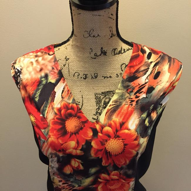 Tinley Road short dress Black & Red Rose Floral Above Knee on Tradesy